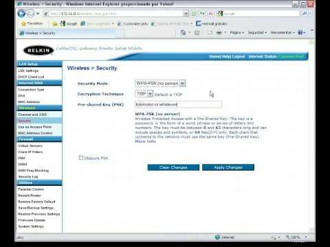 Setting WPA Security Key