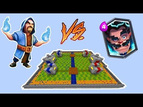 Minecraft CLAY SOLDIERS CLASH ROYALE! • Wizard VS Electro Wizard!