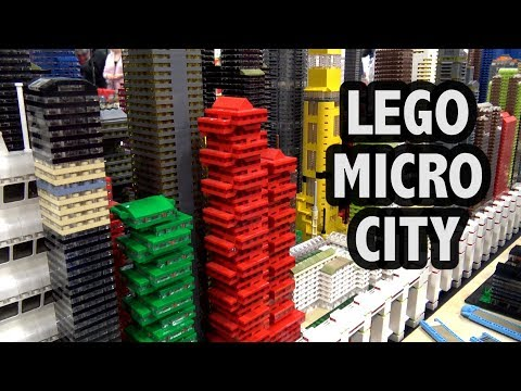 LEGO Futuristic Micro City at Philly Brick Fest 2018