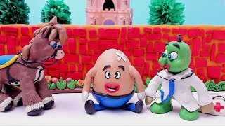 Green Baby In Humpty Dumpty - Stop Motion Kids Songs & Nursery Rhymes