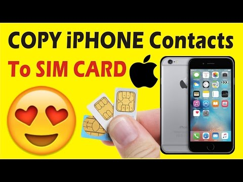 how to copy contacts from new iphone to sim card without jailbreak in hindi