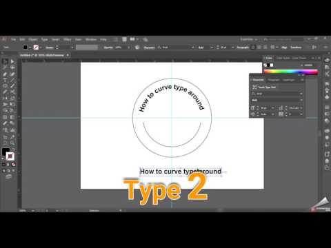 How to curve type around using Adobe Illustrator CS6 CC