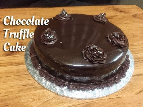 Chocolate Truffle Cake | Eggless Double Layer Cake | Detailed Step by Step Recipe