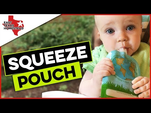 Nature's Little Squeeze Pouch Review | Reusable Baby Food Pouches | #EastTexasHomestead