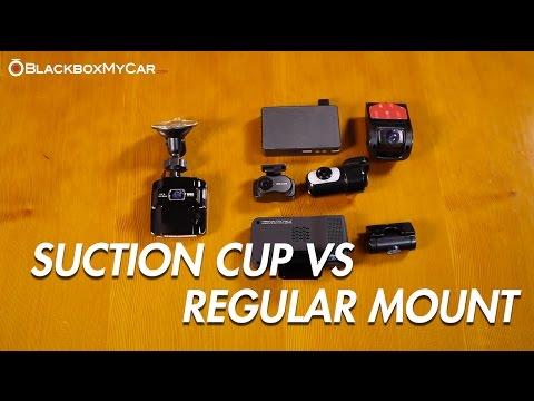 Suction Cup Dashcam vs Tape Mount Dashcam - BlackboxMyCar