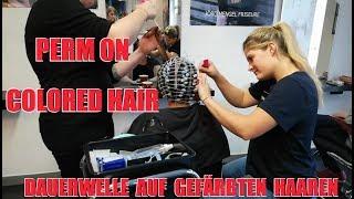 Dauerwelle Perm On Colored Hair By Joerg Mengel Friseure