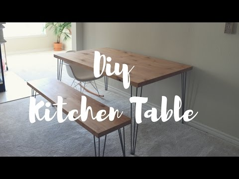 DIY Kitchen Table + Bench | Lindsay Brooke