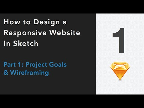 How to Design a Professional Website in Sketch | Part : Concept & Wireframing