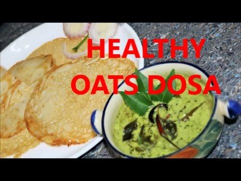 Healthy Oats Dosa/recipe in Hindi/Oats & Urad daal Dosa/Instant Dosa..