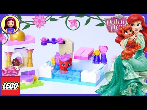 LEGO Disney Princess Palace Pets Treasure's Day at The Pool Build Review Silly Play - Kids Toys