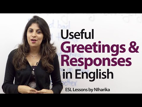 Useful English greetings and responses -- Free English Lesson