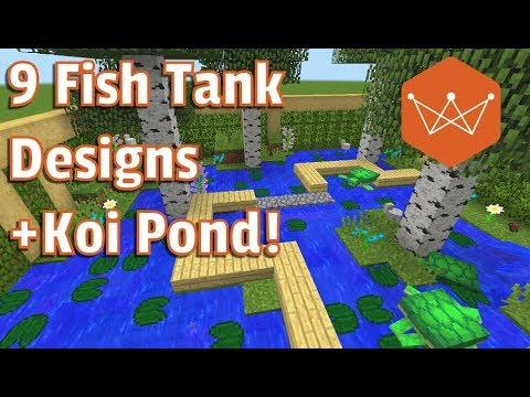 Minecraft Tutorial: 9  fish tank designs for 1.13 using the new fish mobs  [snapshot]