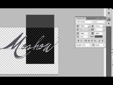 Resizing and Spacing Text in Photoshop CS4