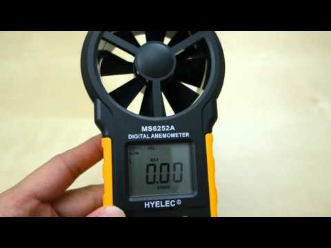 Hyelec MS6252A Digital Anemometer (Wind Meter) REVIEW