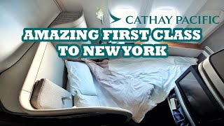 Cathay Pacific FIRST CLASS | CX830 Hong Kong to New York JFK - Boeing 777-300ER