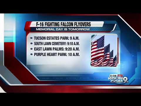 Arizona National Guard to perform Memorial Day F-16 flyovers