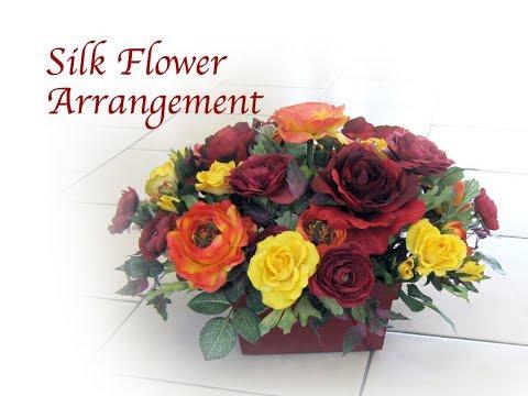 Autumn Theme Silk Flower Centerpiece Demonstration