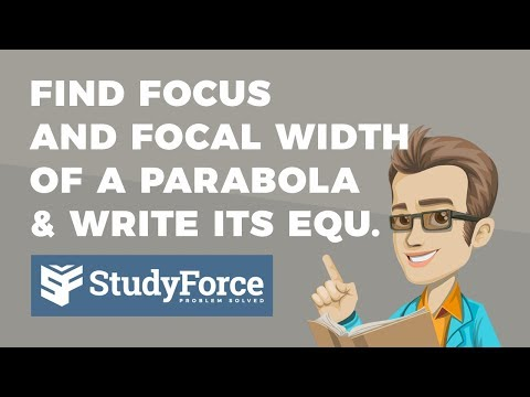 📚 How to find the focus and focal width of a parabola and write its equation