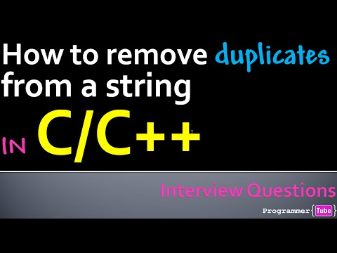 How to remove duplicates from a string in C/C++
