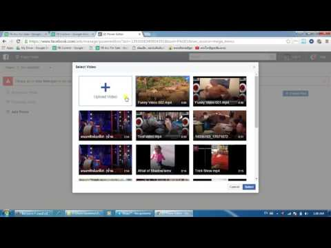 how to post video to facebook page with site link