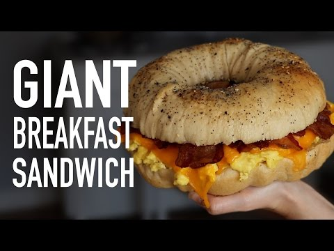 DIY GIANT BREAKFAST SANDWICH