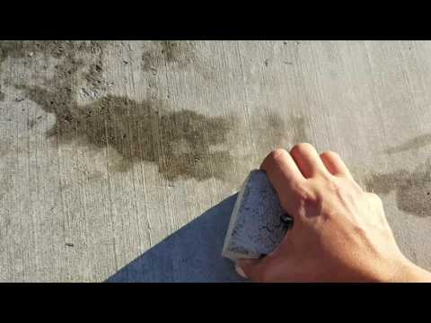 How to Remove OIL OR ANY STAIN FROM CONCRETE
