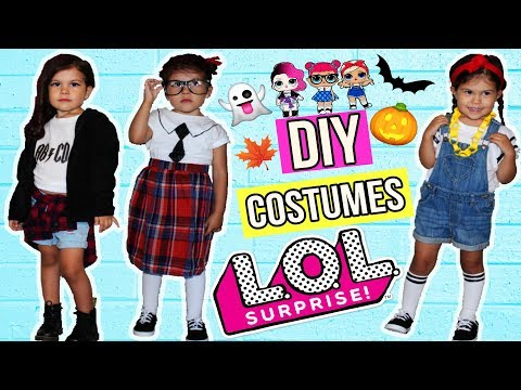 EASY DIY How to Real Life L.O.L Doll BEST Halloween Costume Makeover Collab 4KGoPro5