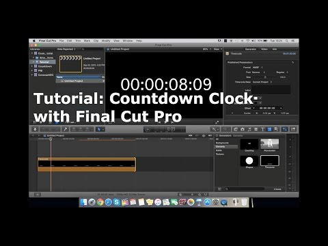 How to make a Countdown Clock using only Final Cut Pro X