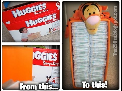 How to make Recycled Diaper Box