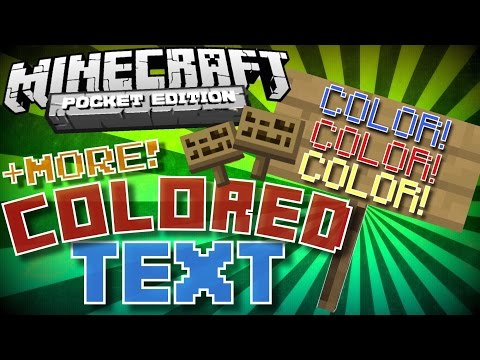 ✔️Minecraft PE - COLORED TEXT! [+MORE!] || How to color text in MCPE [SECRET TIP]