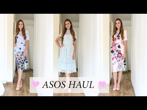 83da54567586 ASOS HAUL! Spring Summer Wedding Guest Outfit Lookbook