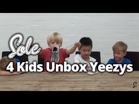 Watch 4 Kids Unbox the adidas Yeezy 350 Boost Infant | The Sole Supplier