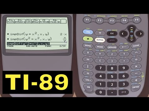 TI-89 Calculator - 09 - Implicit Differentiation using the TI-89 Calculator