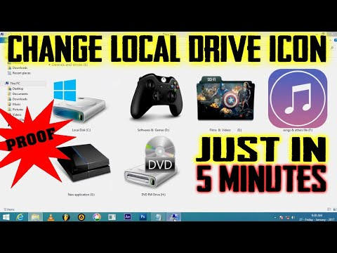 How to change local disk drive icon in 5 minutes | Change Hard disk drive icon | 100% working