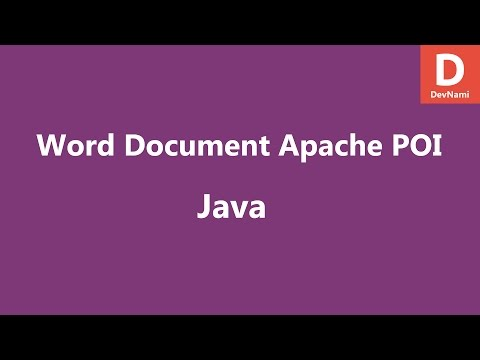 Create Word docx Java Apache POI