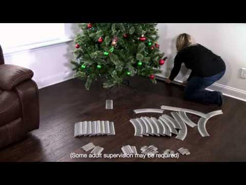 Easy Christmas Tree Track Set-Up