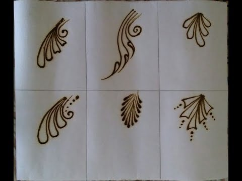 Quick mehndi design for beginners  different types of leaf design of mehndi  easy mehndi Tutorial 3