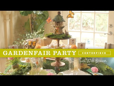 How to create a magical centerpiece for a Fairy Garden party