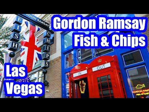 Gordon Ramsay Fish and Chips Review! Las Vegas, Nevada, 2018!