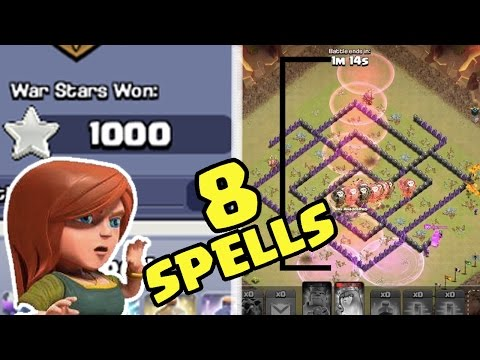 1000 WAR STARS! + LONGEST DICK SPELL EVER? | Clash of Clans Live Attack