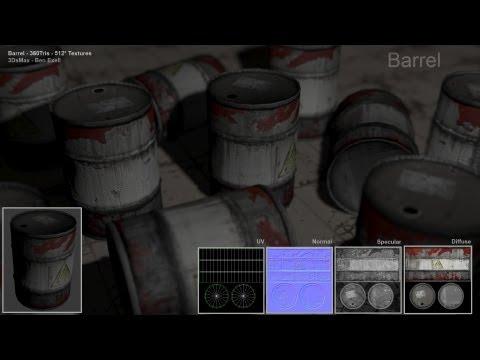 Explosive barrel 3DsMax Build up (Uni work)