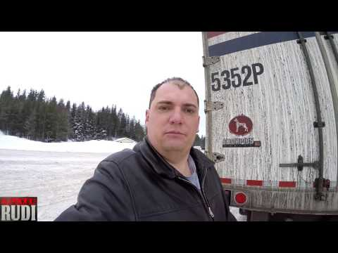 TRUCKER RUDI checking to make sure my placards are in place 02/11/17 Vlog#977