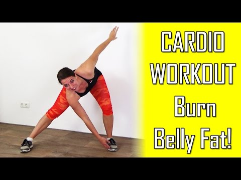 20 Minute Beginners Cardio Workout To Lose Belly Fat - Belly Fat Burning Cardio Exercises At Home
