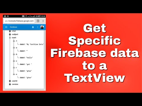 Get specific data from firebase to a TextView in Sketchware