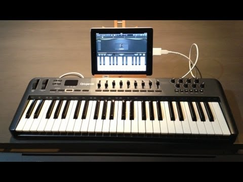 Connect a Midi Controller Keyboard to your Ipad w Connexion Kit & Garageband