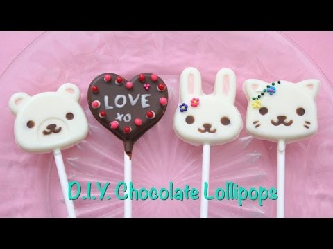 How To Make Cute Chocolate Lollipops!