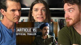 ARTICLE 15 | Ayushmann Khurrana | Trailer REACTION!!