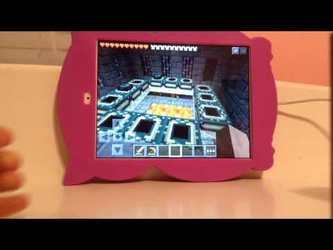 Iron mineshaft find nether portal room fist time ever in minecraft pe history!!!