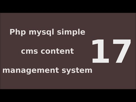 php mysql simple cms content management system tutorial - 17 Quickly publish pages