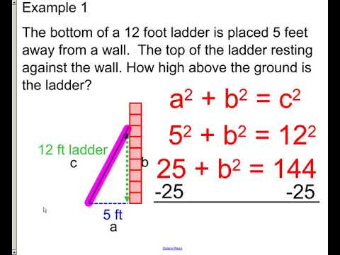 lesson - pyth theorem word problem